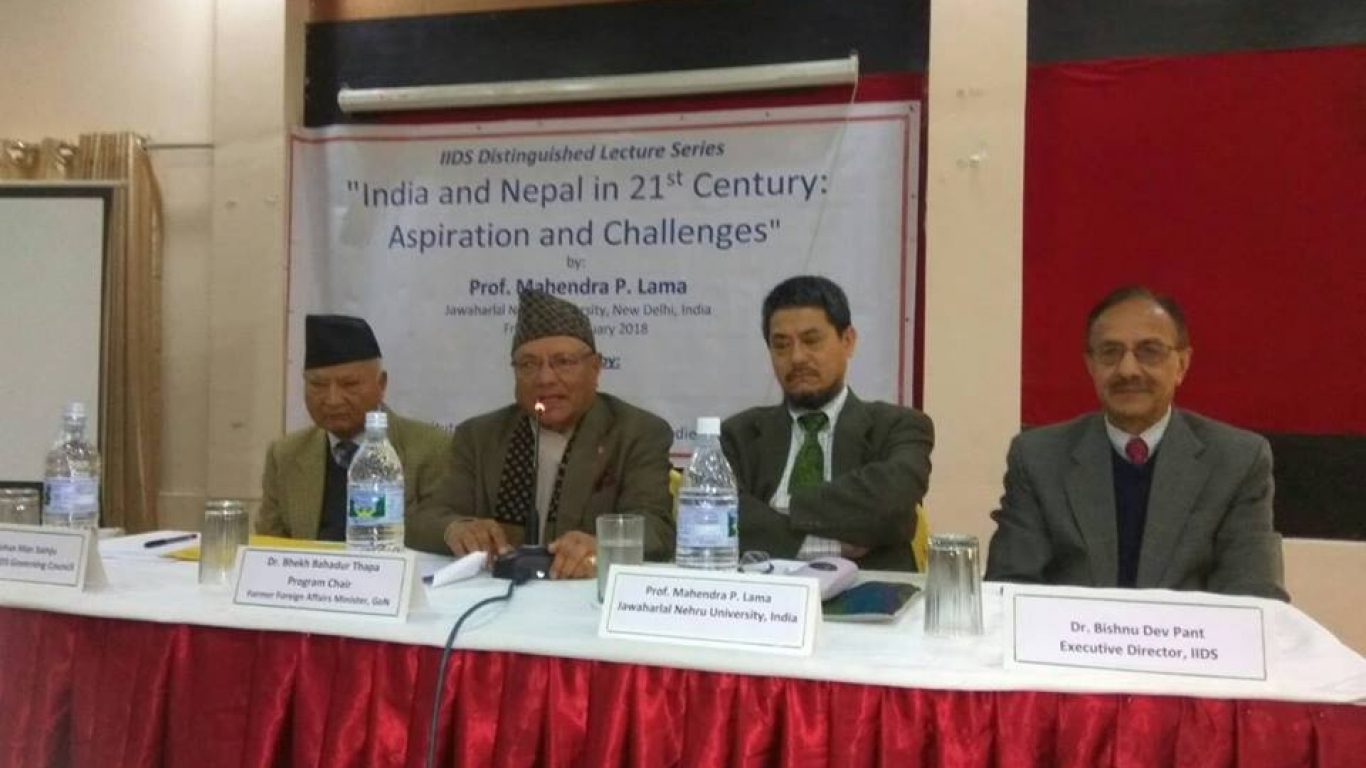 Guest Lecture Series - India and Nepal in 21st century: Aspirations and challenges